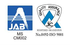 JAB MSCM002 No.0492-ISO 9001